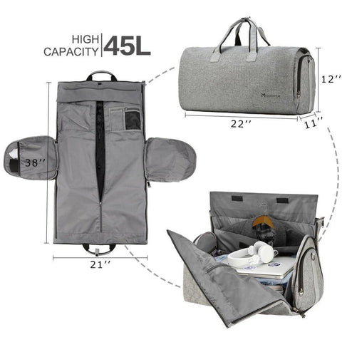 Image of Travel Garment Bag with Shoulder Strap Duffel Bag Carry on - Happy Trends Outlet