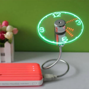 USB Mini Fan with LED Time - Happy Trends Outlet