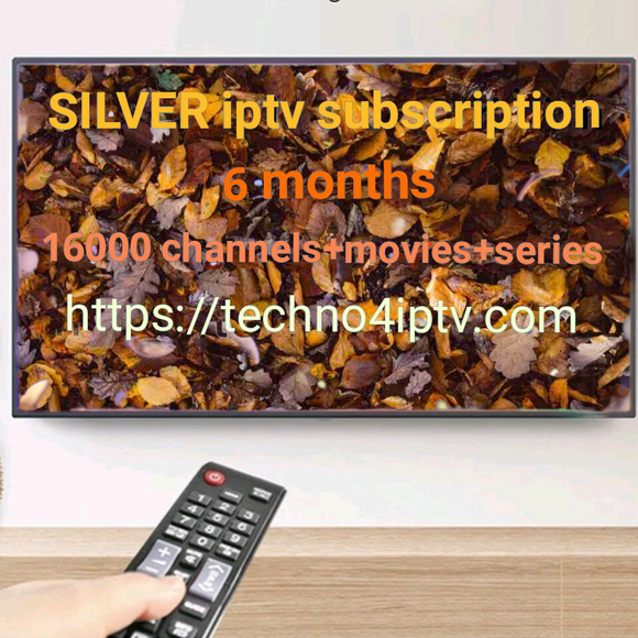 SILVER iptv subscription 6months