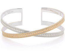 Load image into Gallery viewer, Classic Cross Cuff - Gold & Silver