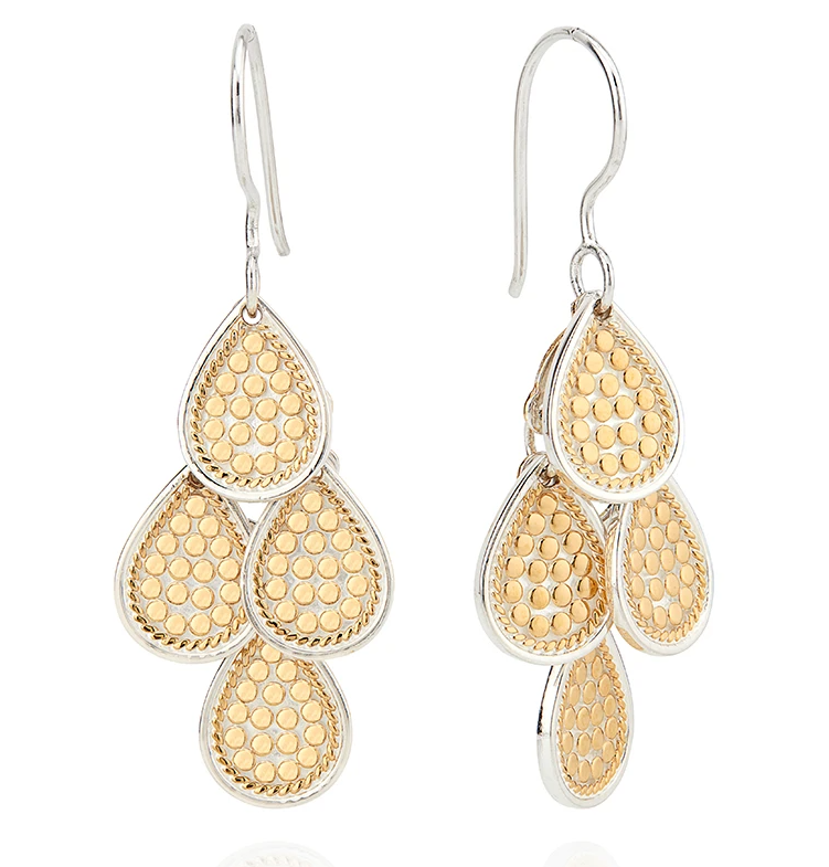Dotted Chandelier Earrings - Gold