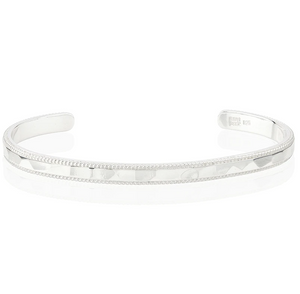 Silver Smooth Band Stacking Cuff