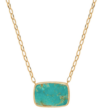 Load image into Gallery viewer, Large Turquoise Cushion Necklace