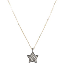 Load image into Gallery viewer, Brooklyn Diamond Pave Medium Star Necklace
