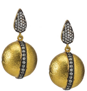 Florentine Satin Ball Earrings