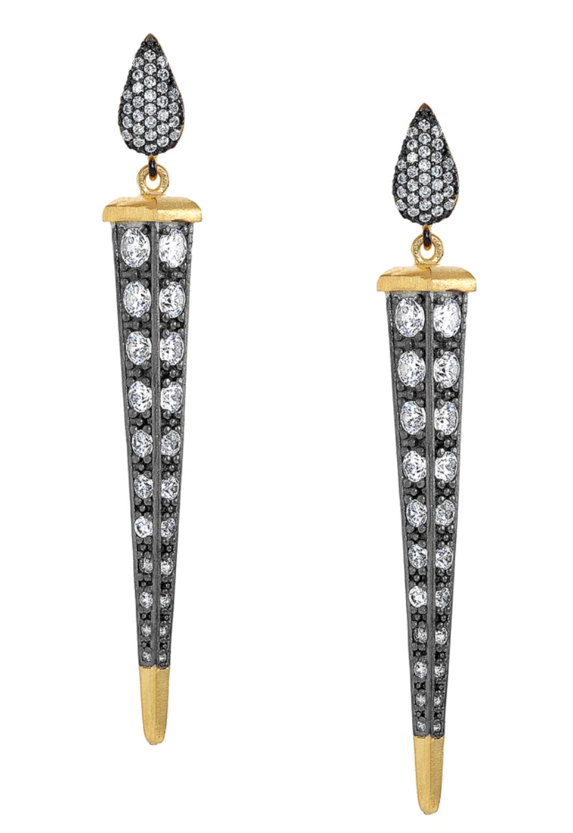 Florentine Clear Dagger Earrings