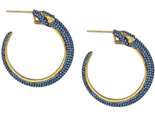 Load image into Gallery viewer, Champagne Panther Hoop Earrings