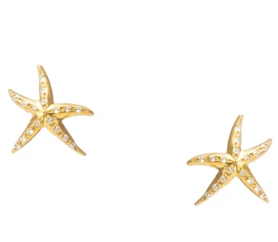 Under the Sea Gold Starfish Studs