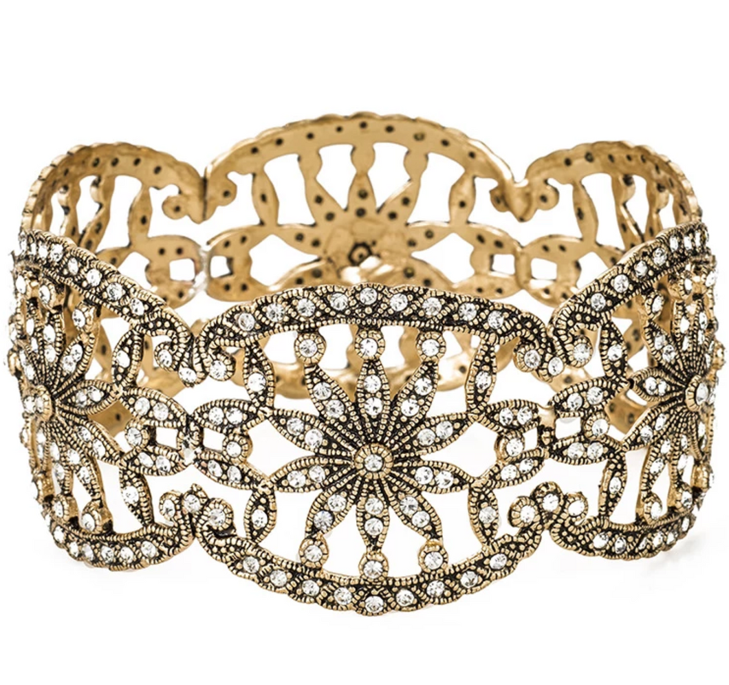 Vintage Statement Floral Bangle