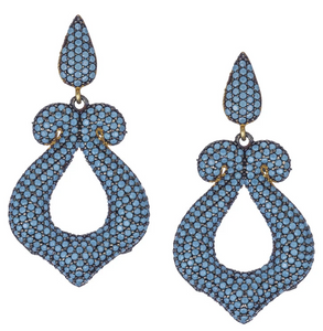 Maleficient Turquoise CZ Earrings