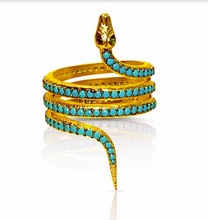 Load image into Gallery viewer, Snake Ring - Turquoise