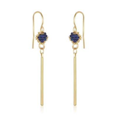 DAINTY SPIKE EARRINGS - LAPIS