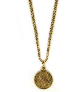 French Coin Necklace