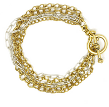 Load image into Gallery viewer, Gilmer Gold & Silver Bracelet