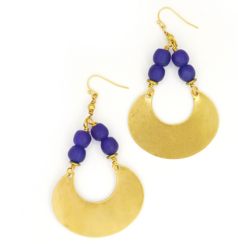 Leslie Cobalt Earrings