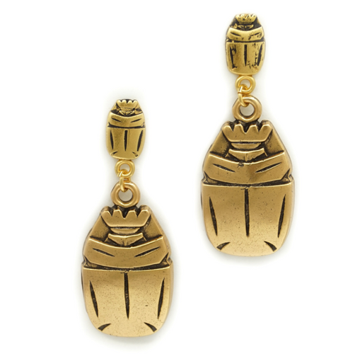 Scarab Earrings