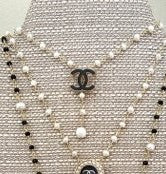 Chanel Button Pearl Necklace