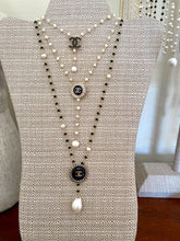 Load image into Gallery viewer, Chanel Button Pearl Necklace