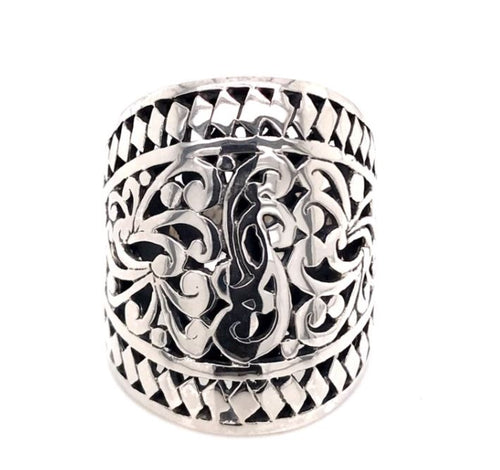 Antique Sterling Silver Big Ring