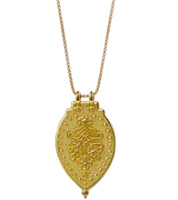 "Load image into Gallery viewer, Laxmi Shield Necklace ""Good Fortune & Abundance"""