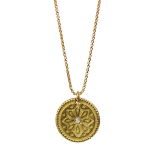 "Sun Lotus Necklace ""Be Resilient"""