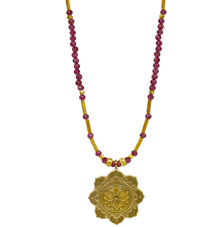Astor Necklace - Garnet