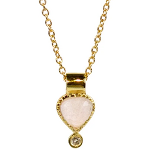 Colette Necklace - Rose Quartz