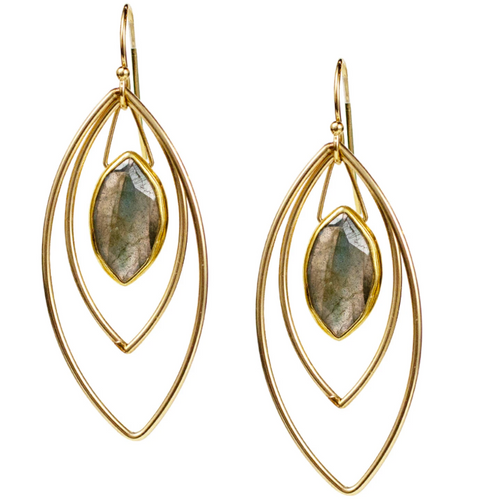 Halley Earrings - Labradorite