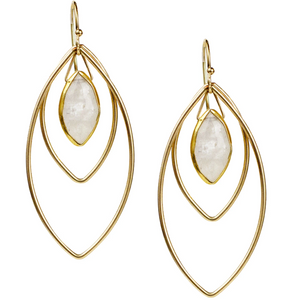 Halley Earrings - Moonstone