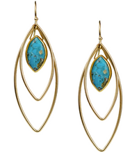 Load image into Gallery viewer, Halley Earrings - Turquoise