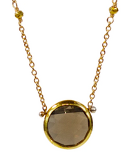 Load image into Gallery viewer, Isabell Necklace - Smoky Quartz