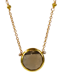 Isabell Necklace - Smoky Quartz