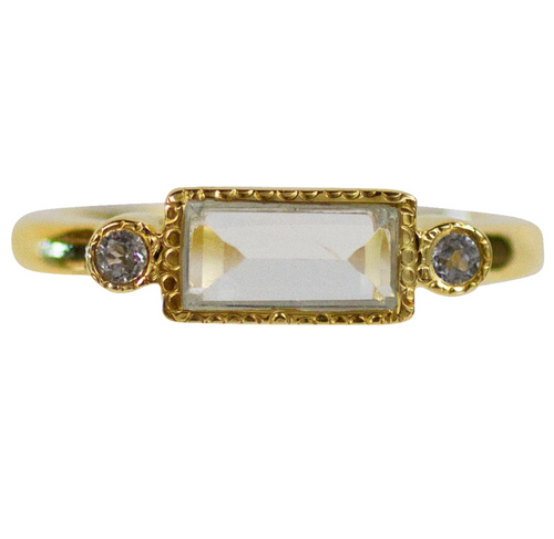 Kathleen Ring - White Topaz