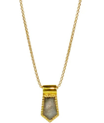 Nova Necklace - Labradorite/Gold
