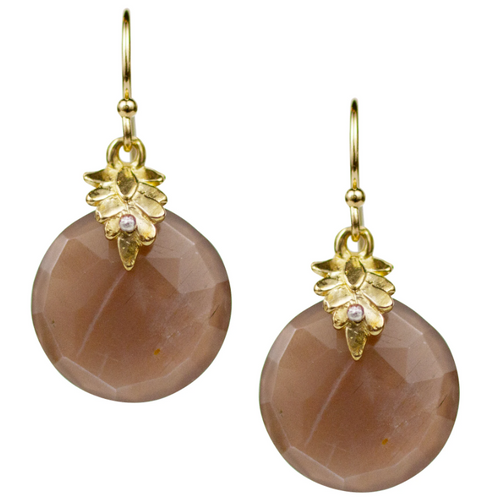 Portola Earrings - Brown Moonstone