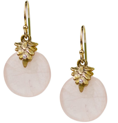 Portola Earrings - Rose Quartz