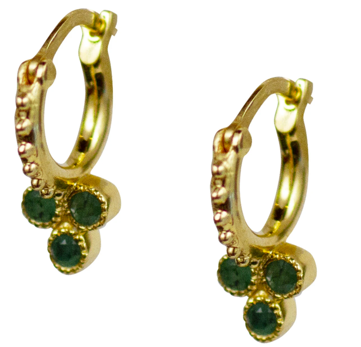 Trifecta Hoops - Emerald