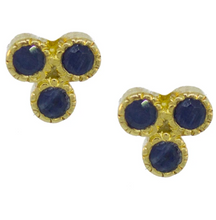 Load image into Gallery viewer, Trifecta Studs - White Topaz