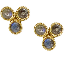 Load image into Gallery viewer, Trifecta Studs - Blue Sapphire