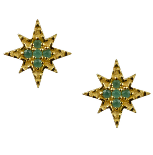 Ursa Studs - Emeralds