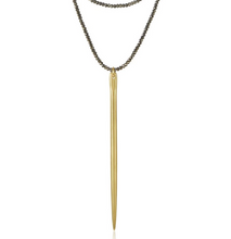 Load image into Gallery viewer, Gem Spike Necklace