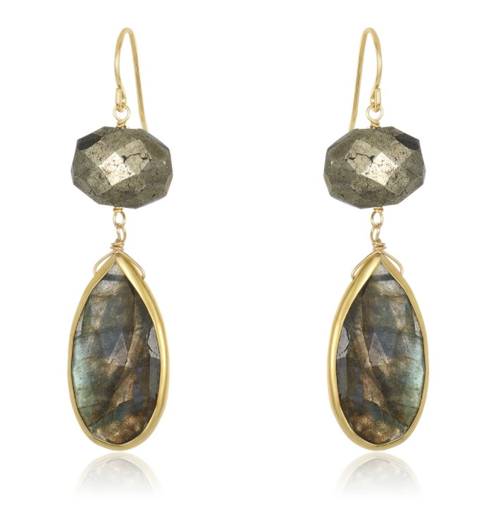 Alexa Labradorite Earrings