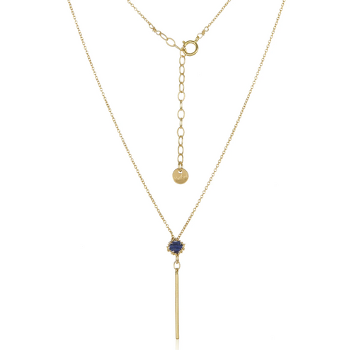 Dainty Spike Necklace - Lapis