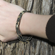 Load image into Gallery viewer, Half Moon Pyrite Bracelet