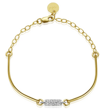 Load image into Gallery viewer, Jupiter Skinny Barrel Pave Bracelet