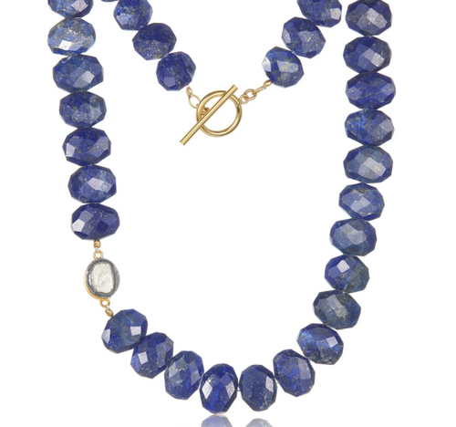 Lapis Slice Necklace