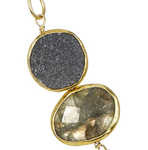 Links of Color Necklace in Druzy