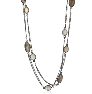 Mixed Moonstone Necklace