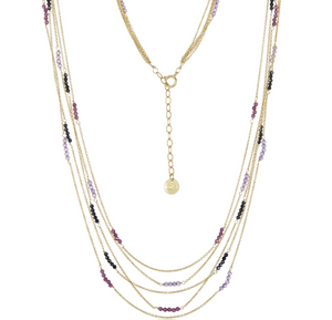 Multi Strand Necklace in Mixed Sapphire