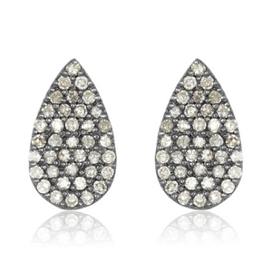 Teardrop Pave Diamond Studs